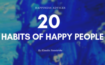 20 habits of happy people
